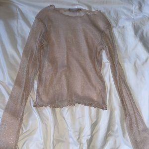 Brandy Melville sheer glittery top